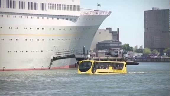 Bus amphibie à Rotterdam