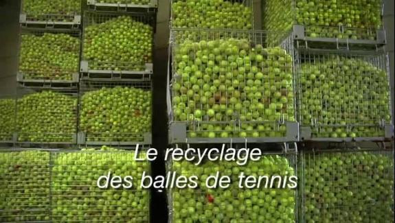 Le recyclage des balles de tennis