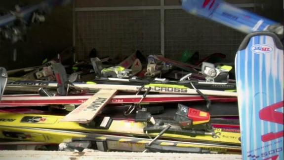 Le recyclage des skis