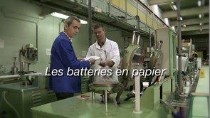 Les batteries en papier
