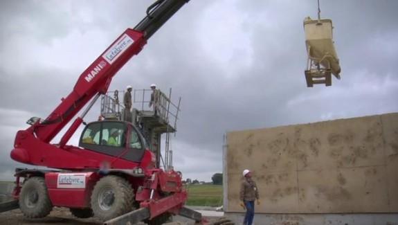 Les murs en terre de chantier