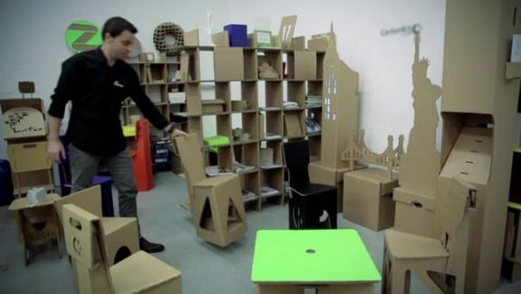 Les meubles en carton s'industrialisent