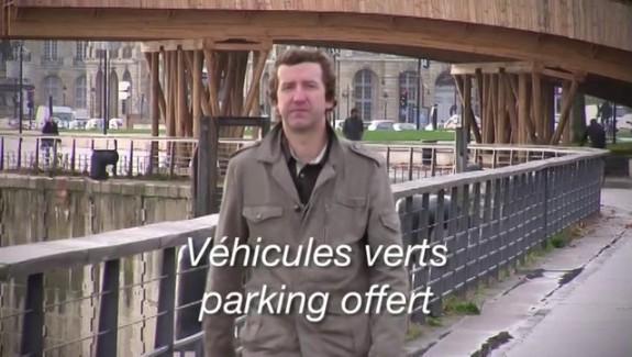 Vehicule propre, parking offert